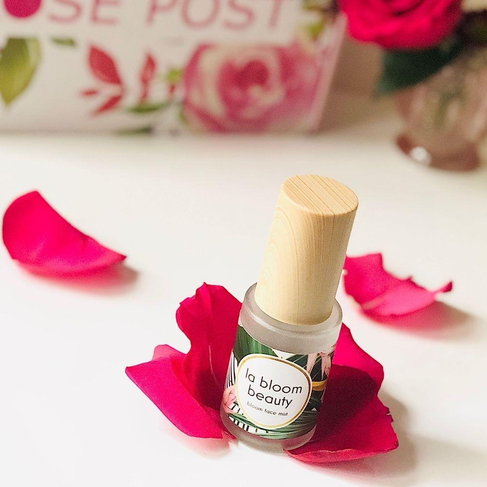 rose water, rose face mist, bloom face mist, rosepost box, clean rose skincare