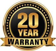 We offer a 20 years guarantee with all our work