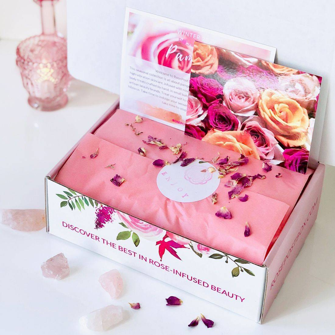 clean rose beauty, best rose skincare, cuticle oil, indie beauty box, eco beauty box, rose-infused skincare, valentine's day clean rose beauty gifts