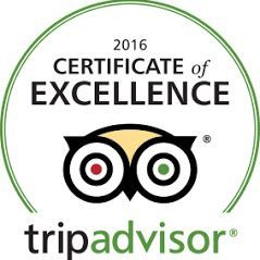 Napa Sonoma Wine Tasting Driver 1st Yearly TripAdvisor Award of Excellence for 2016.