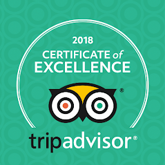 Napa Sonoma Wine Tasting Driver 3rd Yearly TripAdvisor Award of Excellence for 2018.