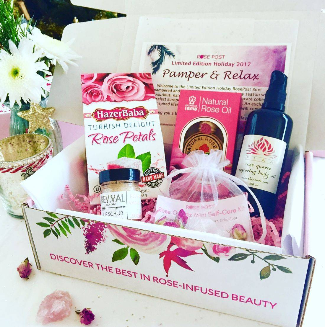 RosePost Limited Edition Holiday Box, RosePost Box, Limited Edition Box