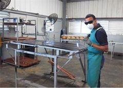 Manufactura de colectores solares para calentador solar