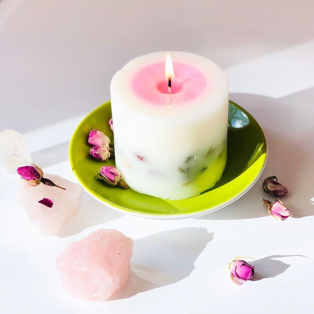 clean rose beauty, rose candle, rose natural oil rose essential oil, rosepost box, rose-infused skincare
