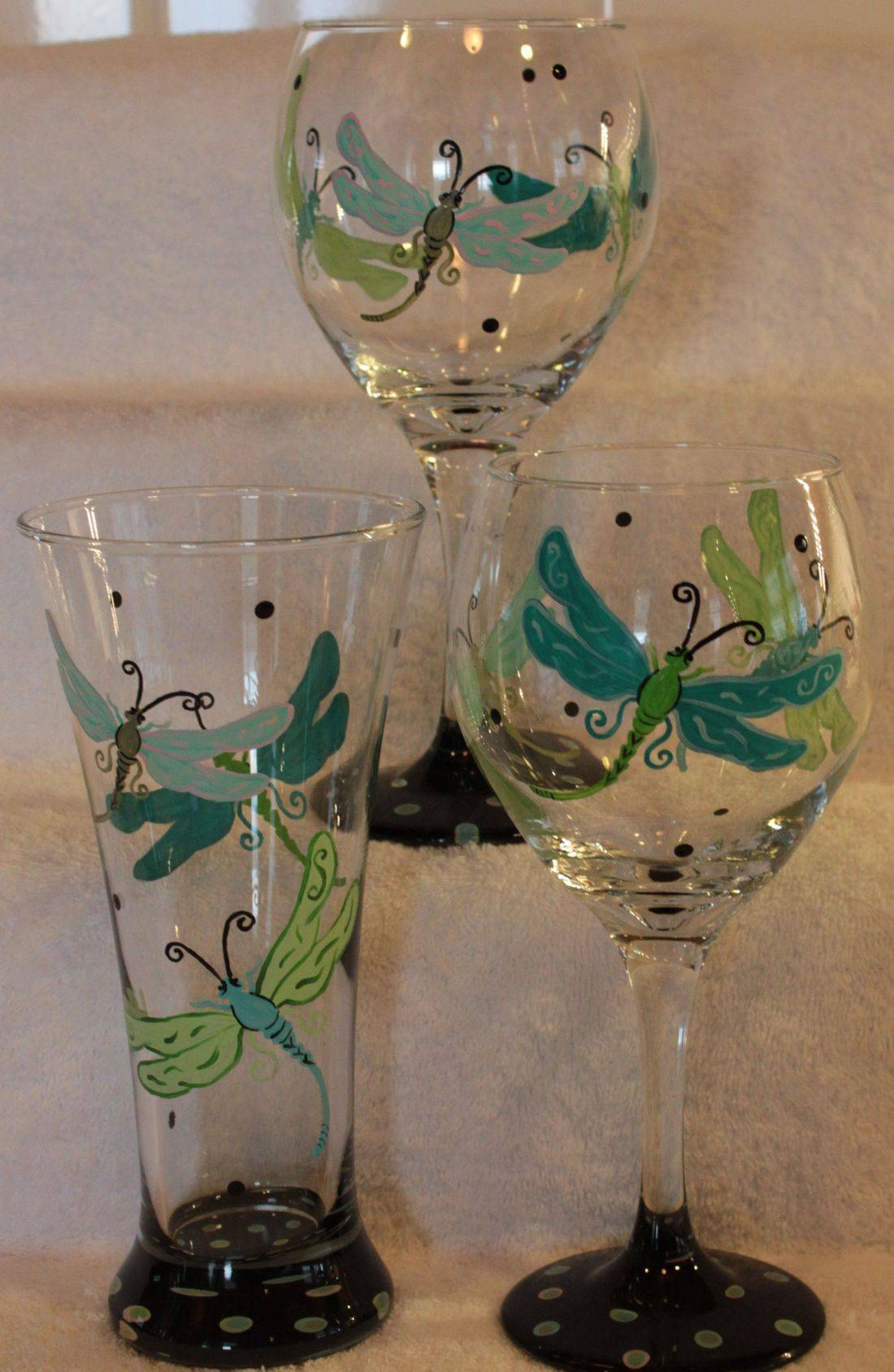 dragonfly wine glass, dragonfly beer glass