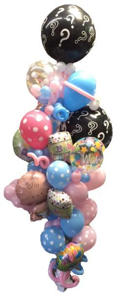 Double Gender Reveal Colossal Balloon Bouquet
