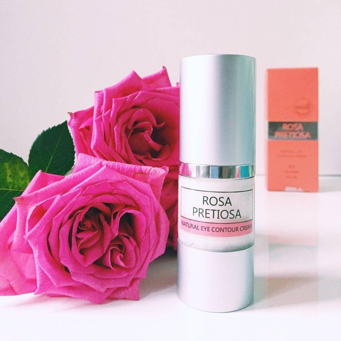 Rosa Pretiosa Natural Contour Eye Cream, Rose Eye Cream, rose eye cream, non toxic eye contour cream