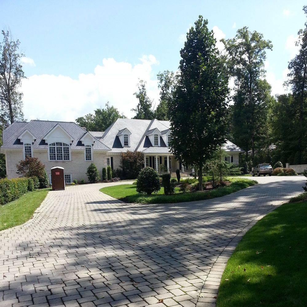 Gray home pavement