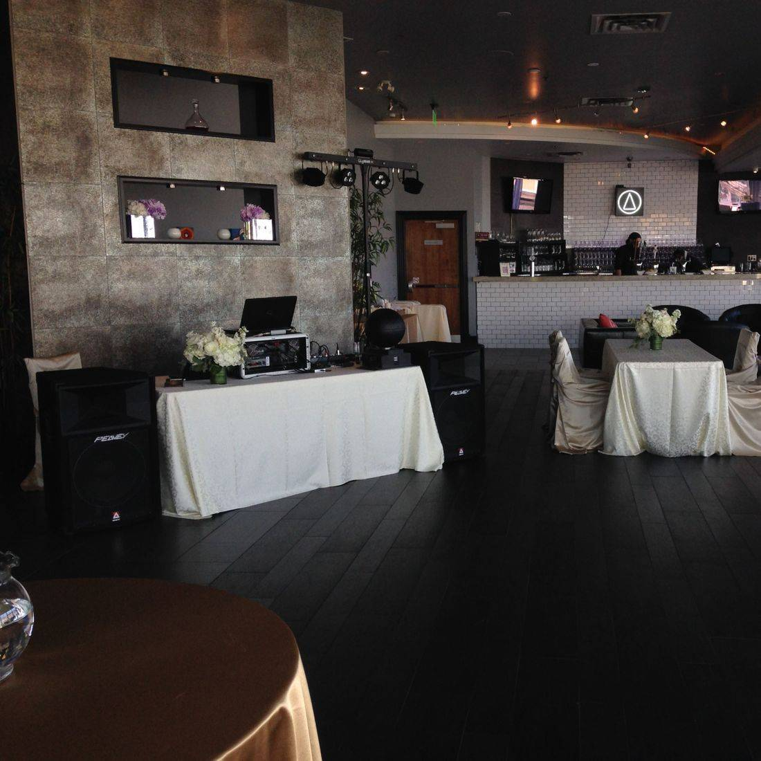 Mr. Productions DJ Service Dj'n a wedding at Compass Restaurant in Oakville.