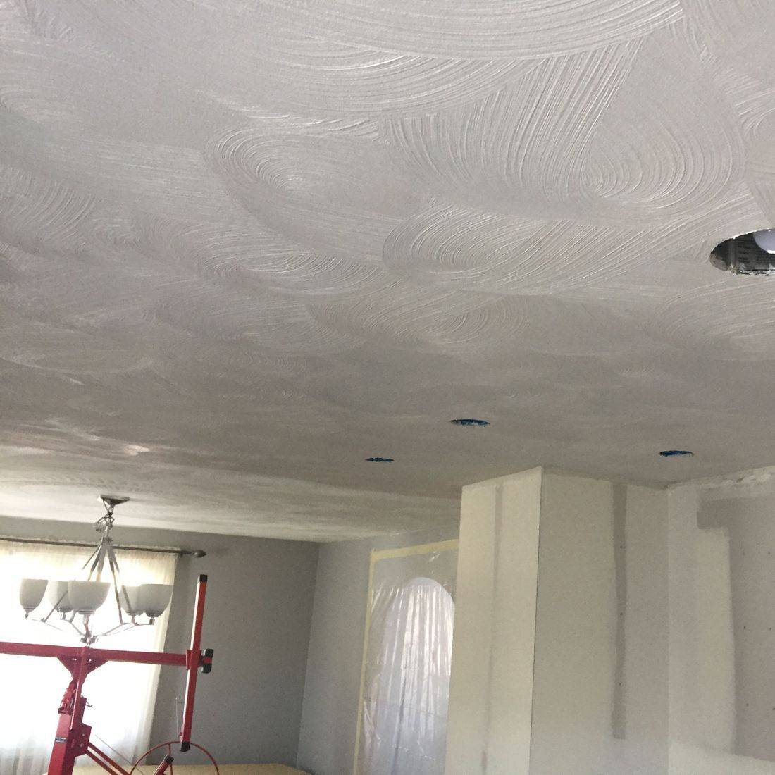 After/Texture to match existing ceiling