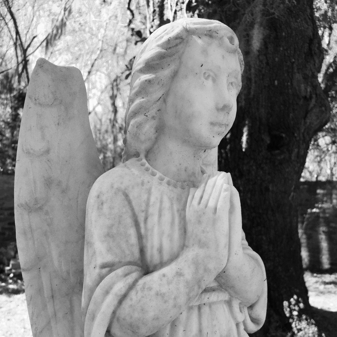 Gardens, Church, Cemetery, Pawleys Island, South Carolina, Angel, Trees