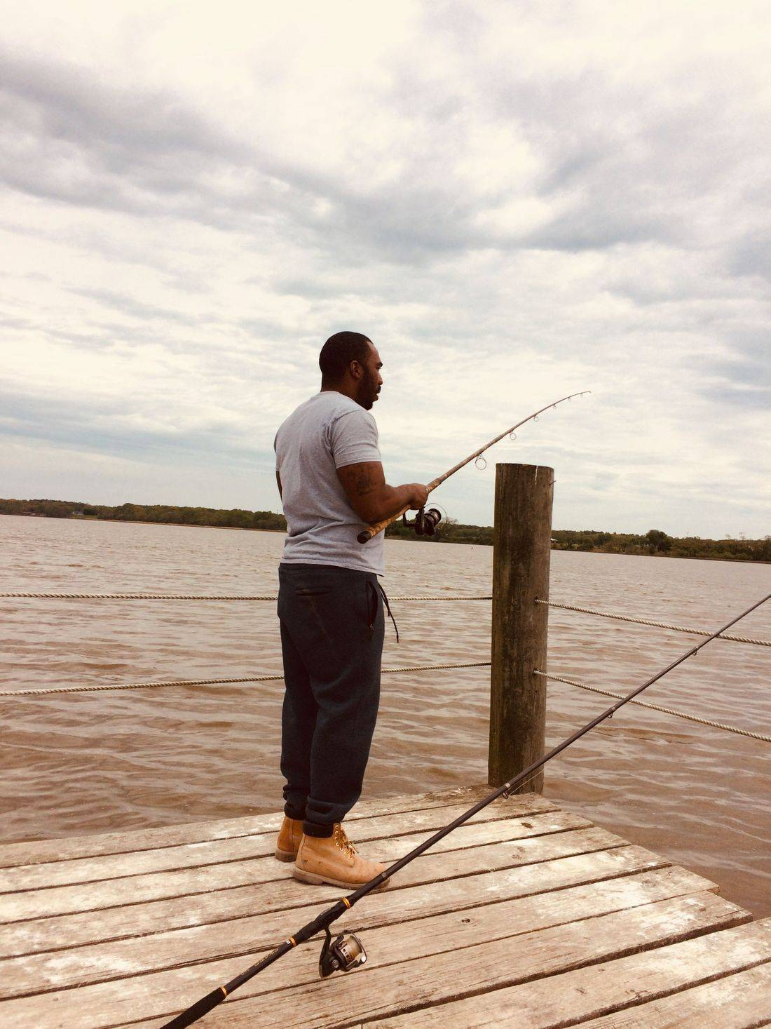 Local resident fishing in Cedar Haven