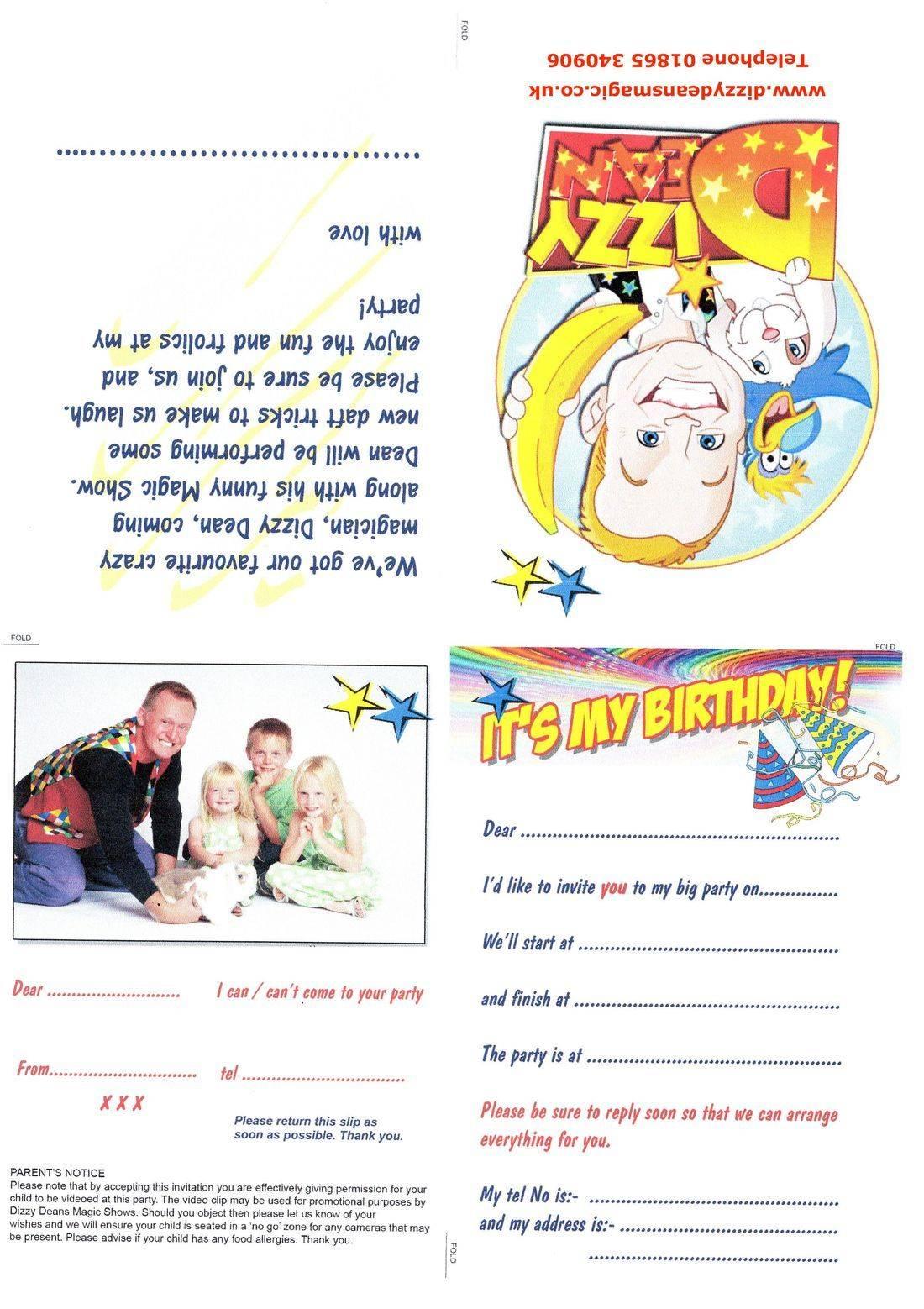 Free Dizzy Dean Invites