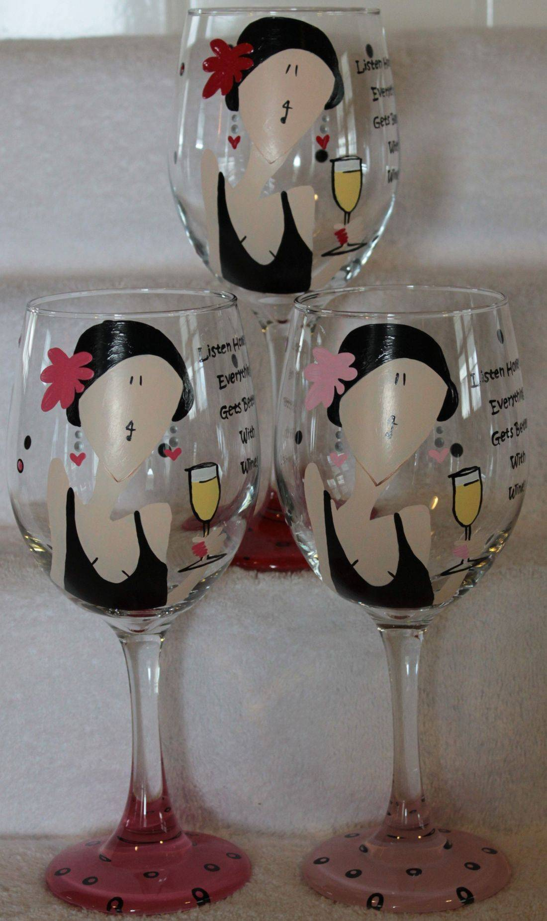 lady wine glass