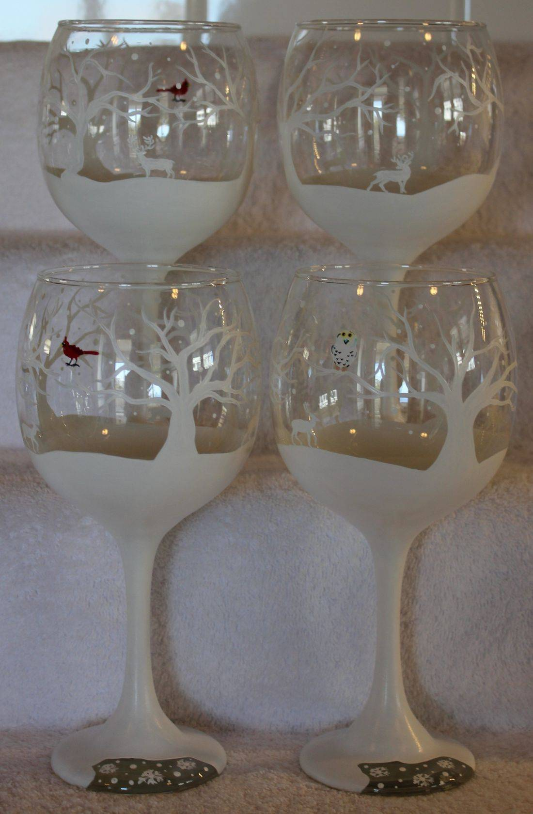 snow wine glass