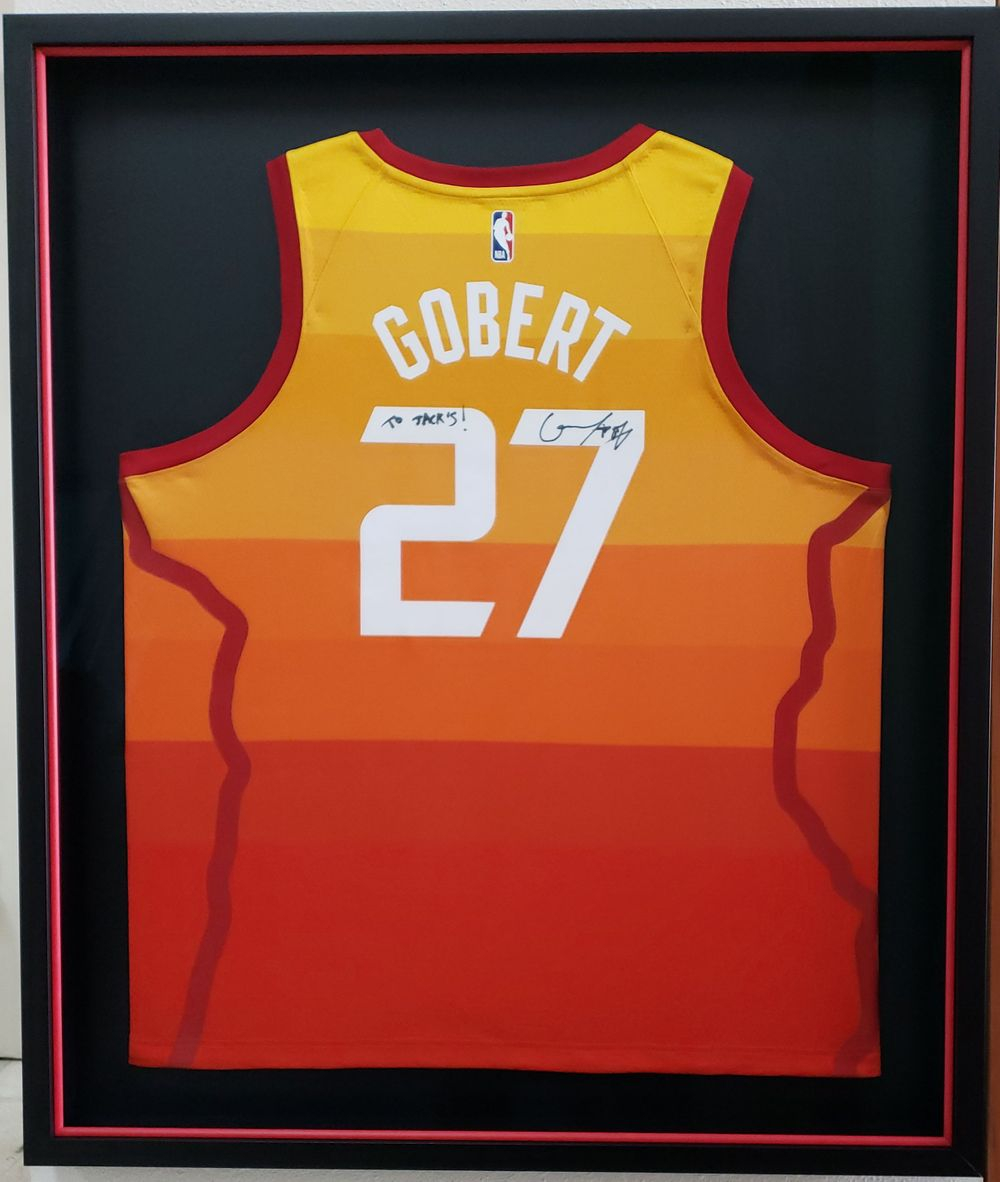 Sunset framer, framed jersey, basketball jersey framed