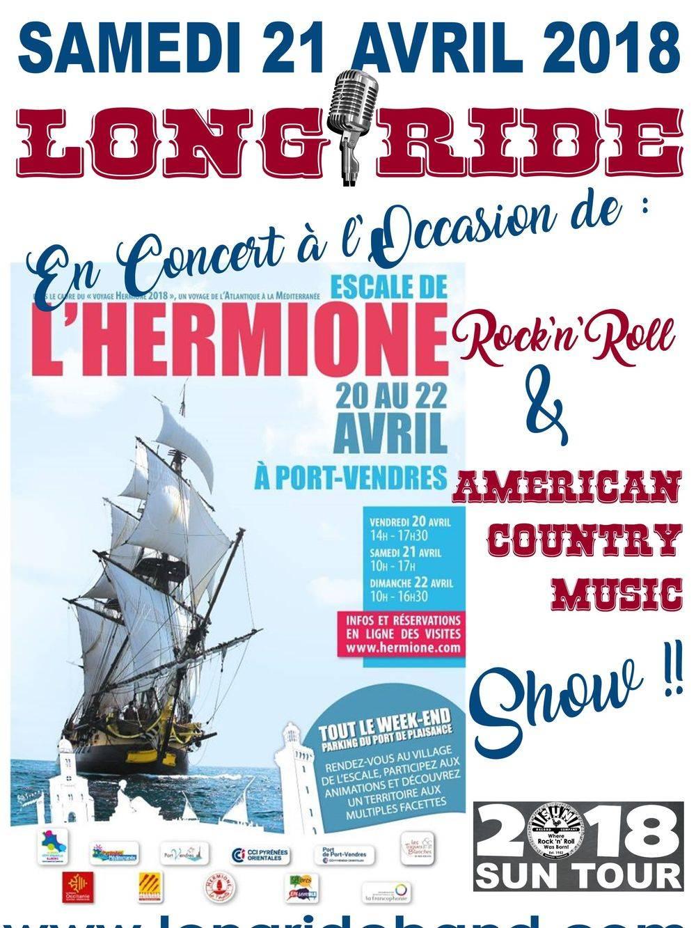 Concert LONG RIDE Mairie Port-Vendres