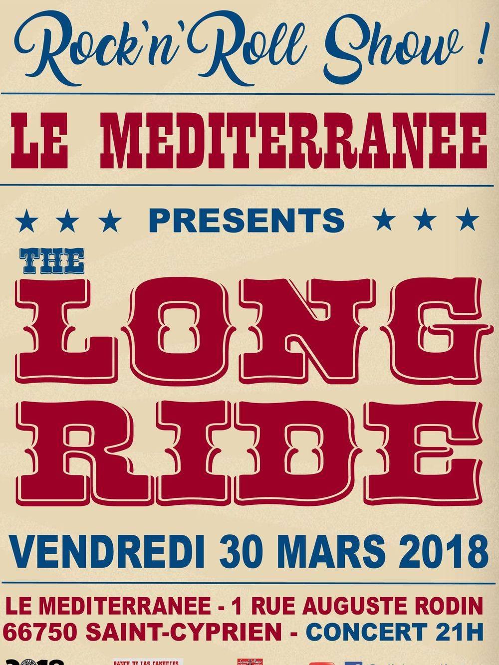 Concert LONG RIDE au Mediterranee à Saint-Cyprien