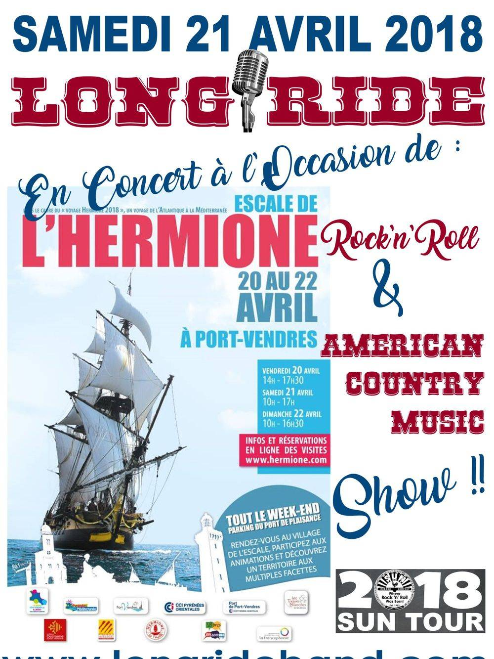 Concert LONG RIDE Mairie Port-Vendres