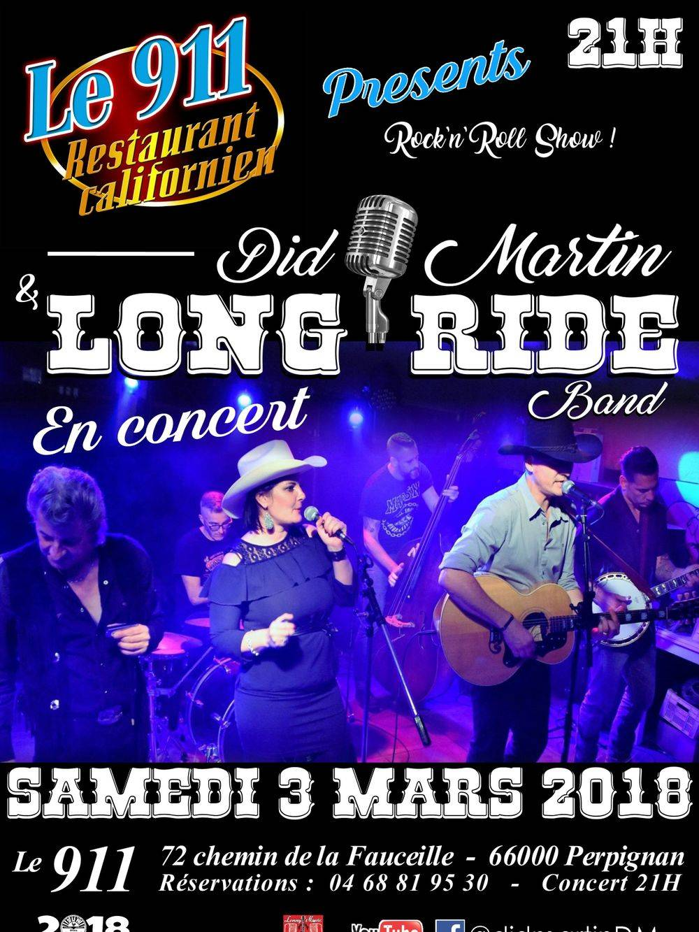 Did MARTIN & LONG RIDE BAND au 911