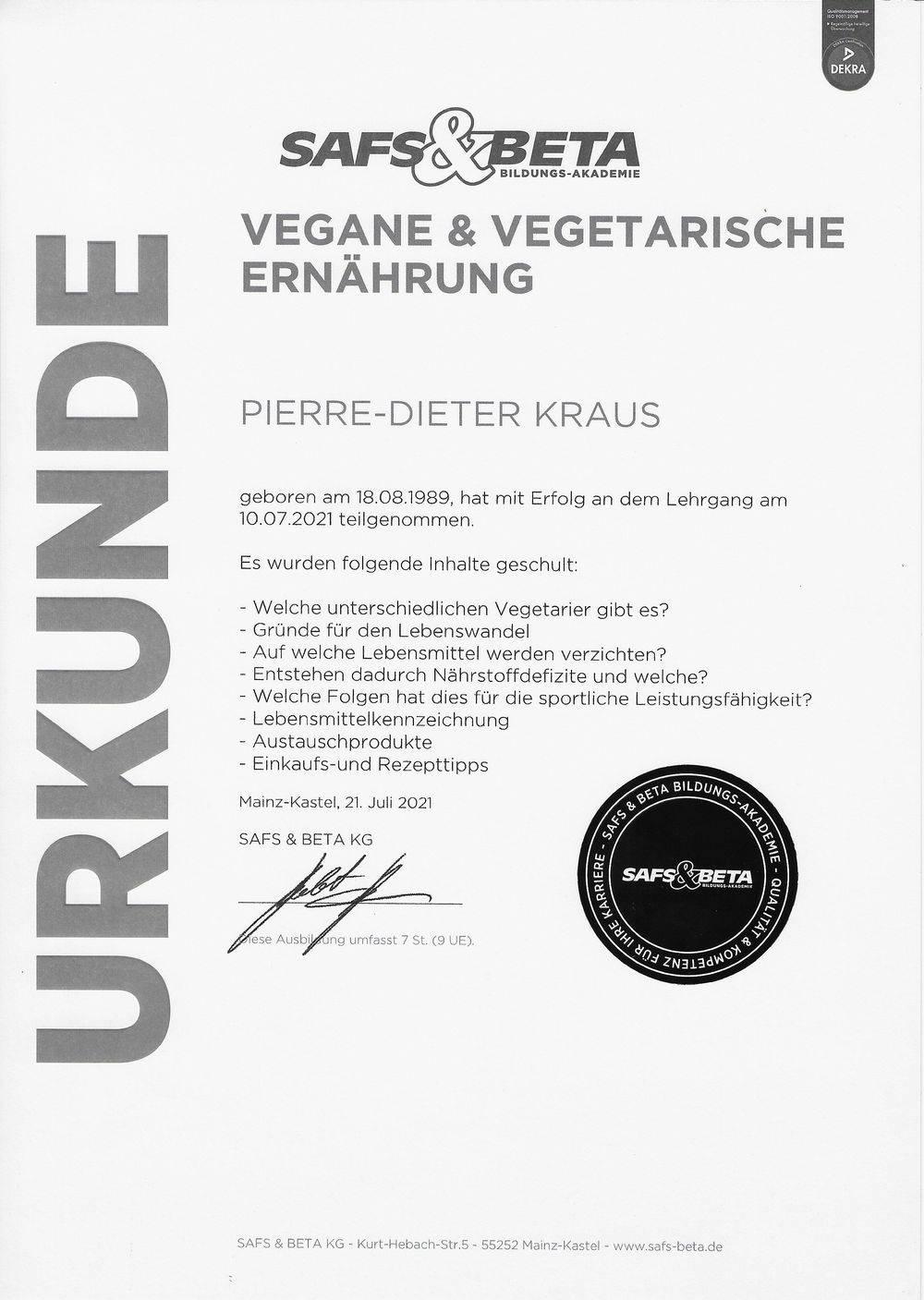 Vegane & Vegetarische Ernährung