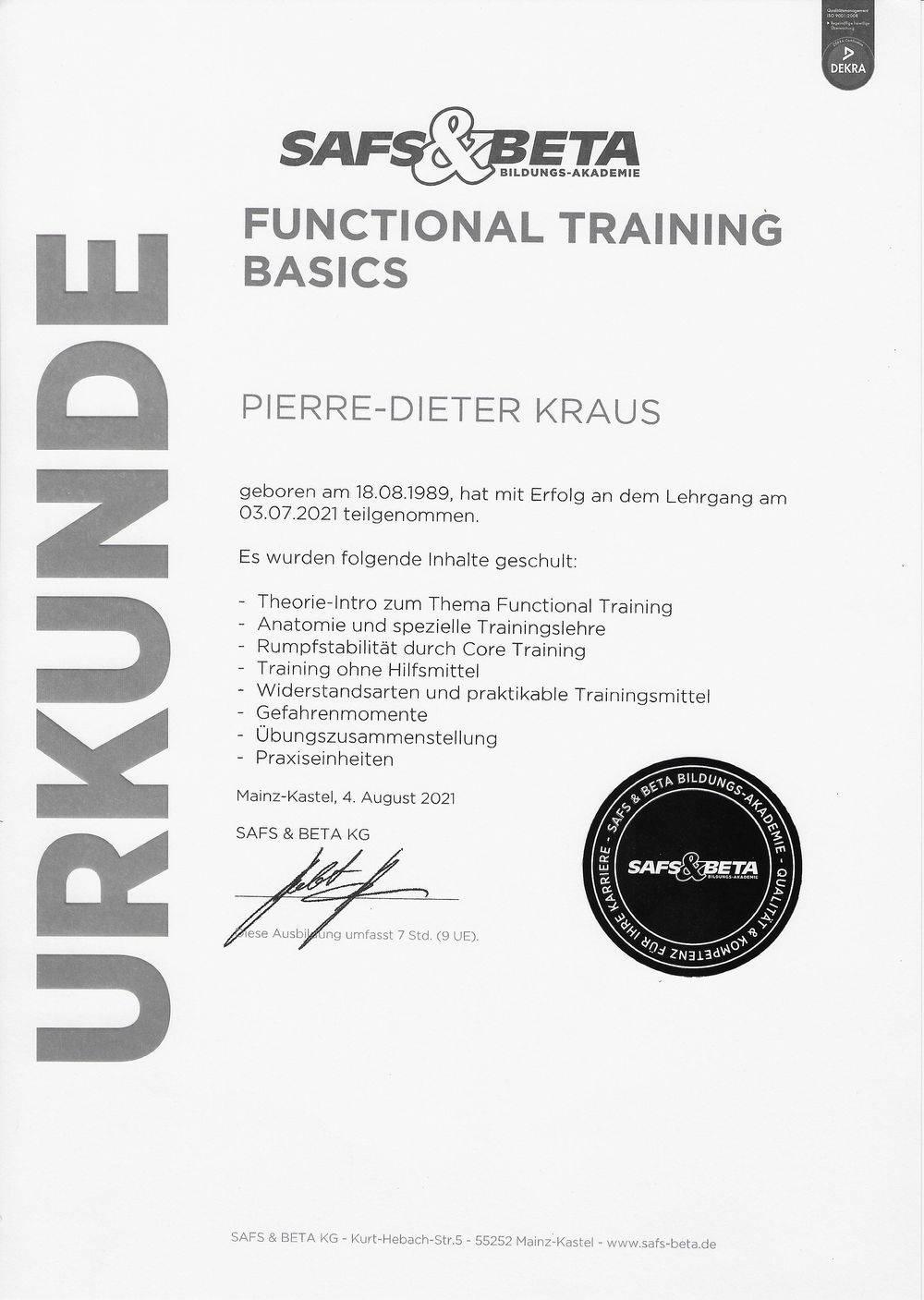 Function Training
