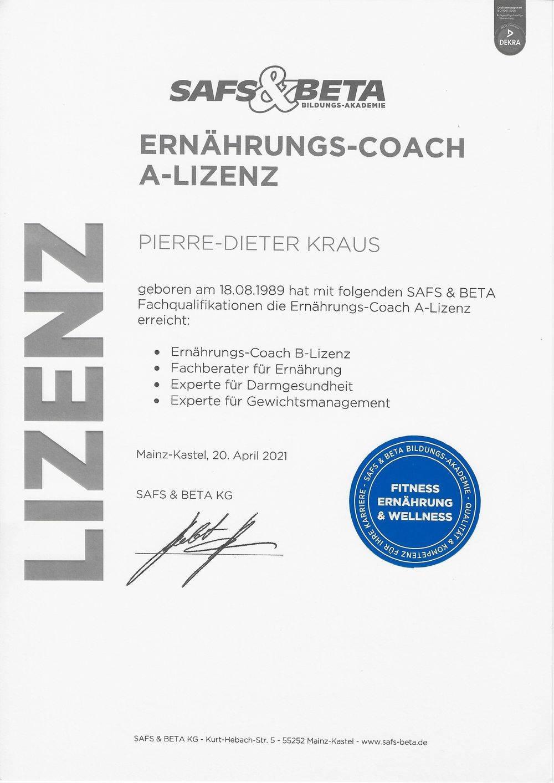 Ernährungs-Coach A-Lizenz