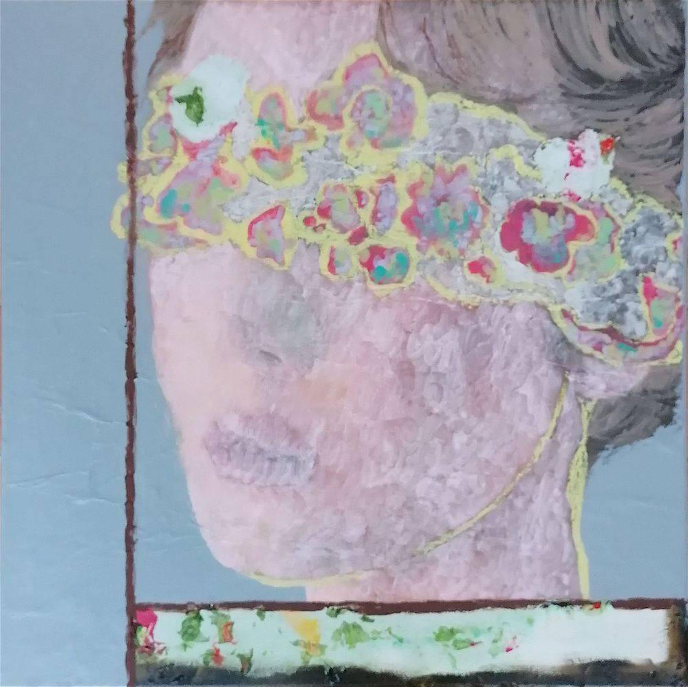 Aquarelle, Acrylique, Femme, Portrait, Histoire de l'art