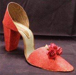 I Love Shoes - Red Glitter (3D shoe)