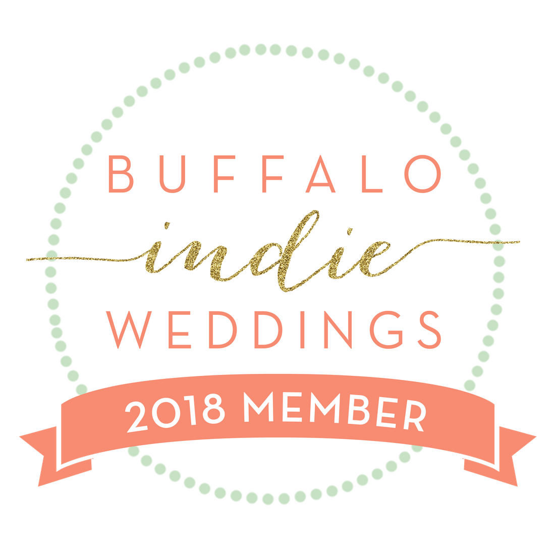 badge for 2018 Buffalo Indie Weddings membership