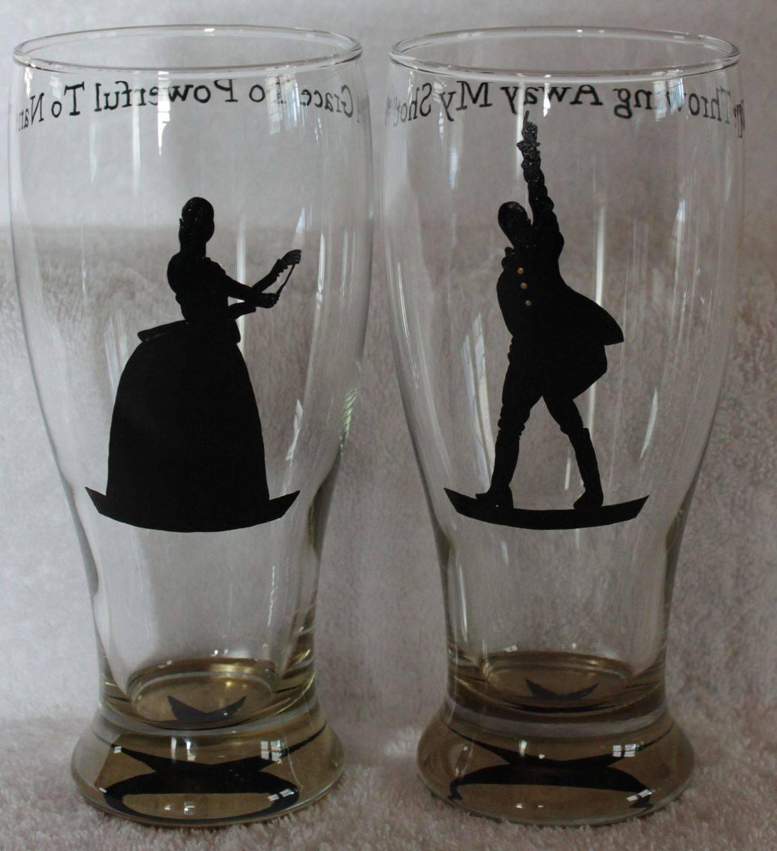 hamilton wine glass, hamilton beer glass