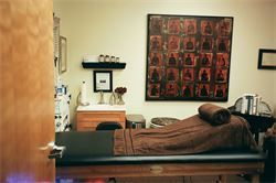 Colon hydrotherapy room