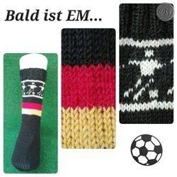 EM 2016 Socken gestrickt