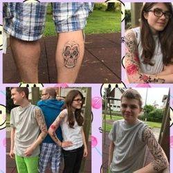 Airbrush Tattoos für Veranstaltungen