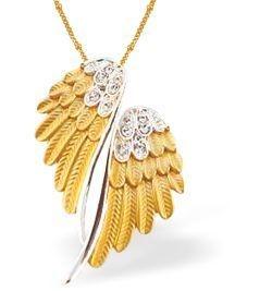 Designer Angel Wings (Gold Coloured) Necklace (K750) £17.99