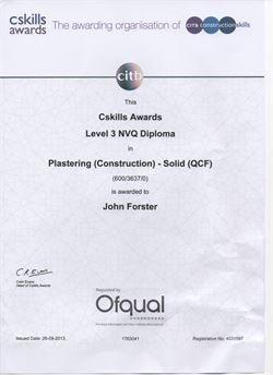Plastering Qualifications