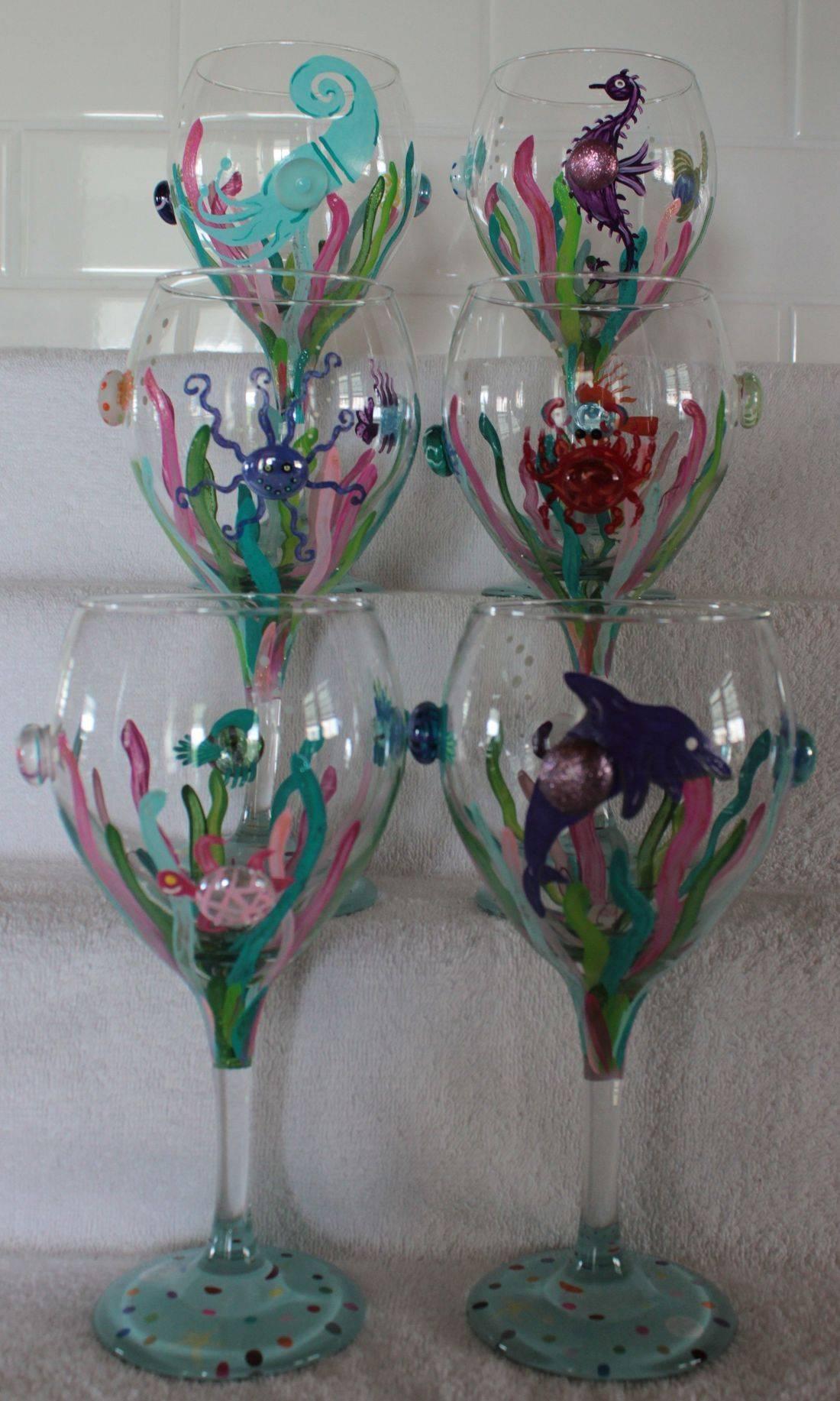 coastal wine glass, squid wine glass