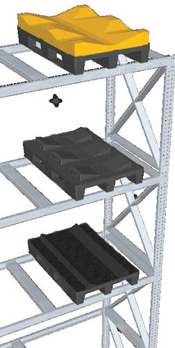Kunststoffpaletten metallverstärkt für Hochregallagerung