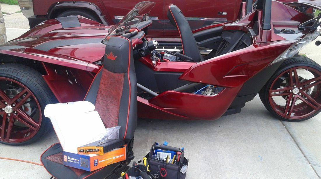 SlingShot car audio installation