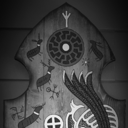 Viking art norse animals viking door