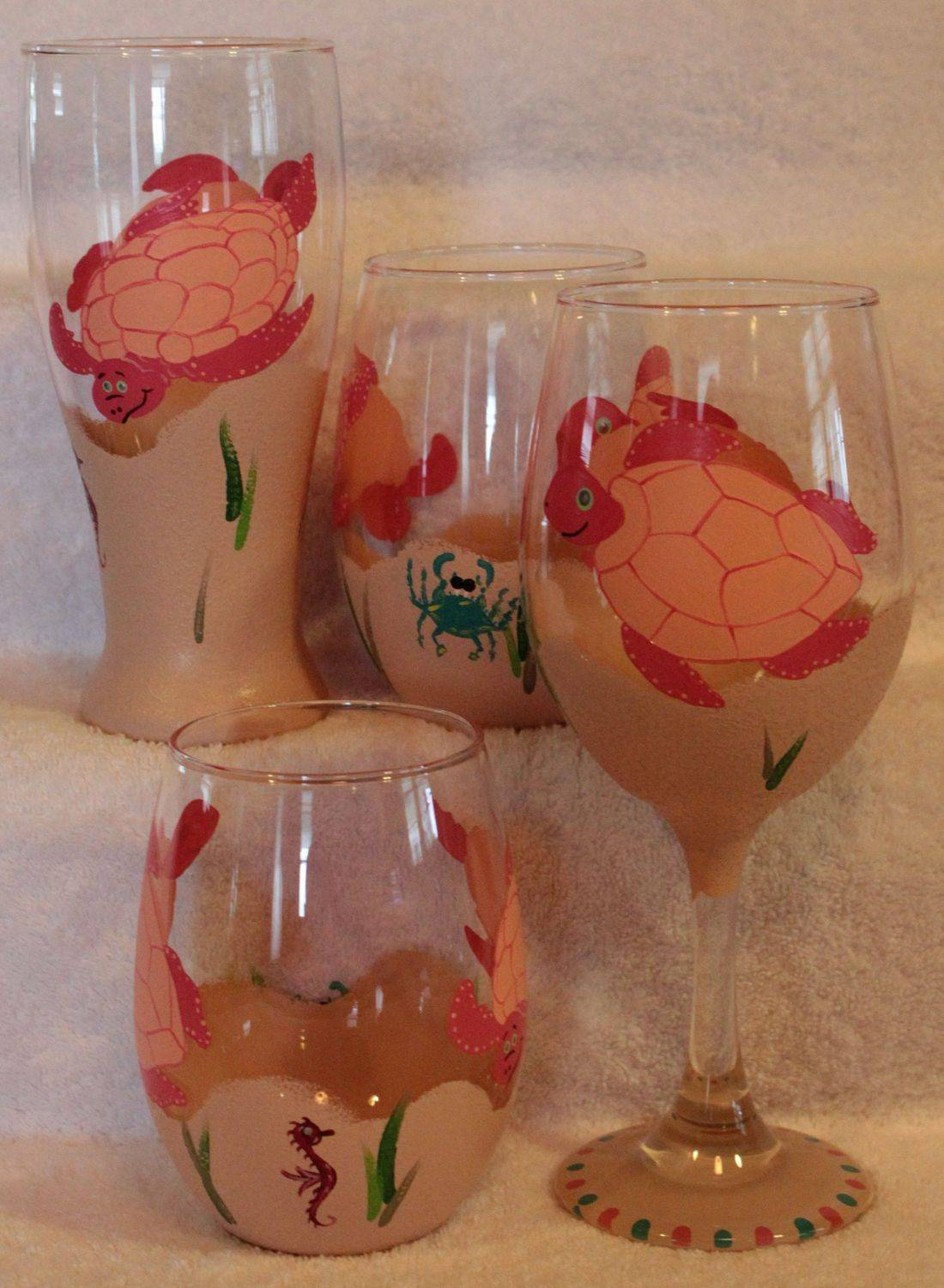 turtle wine glasses