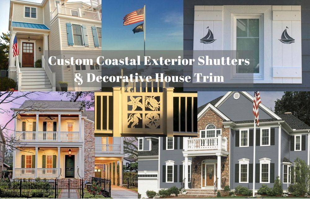 Custom Decorative PVC Exterior Shutters