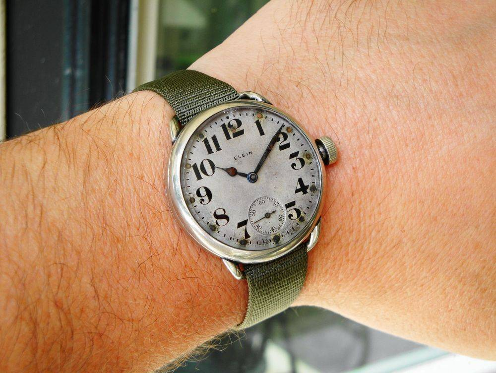 1917 WWI GIANT Size 6s, 38mm, Elgin Trench Watch