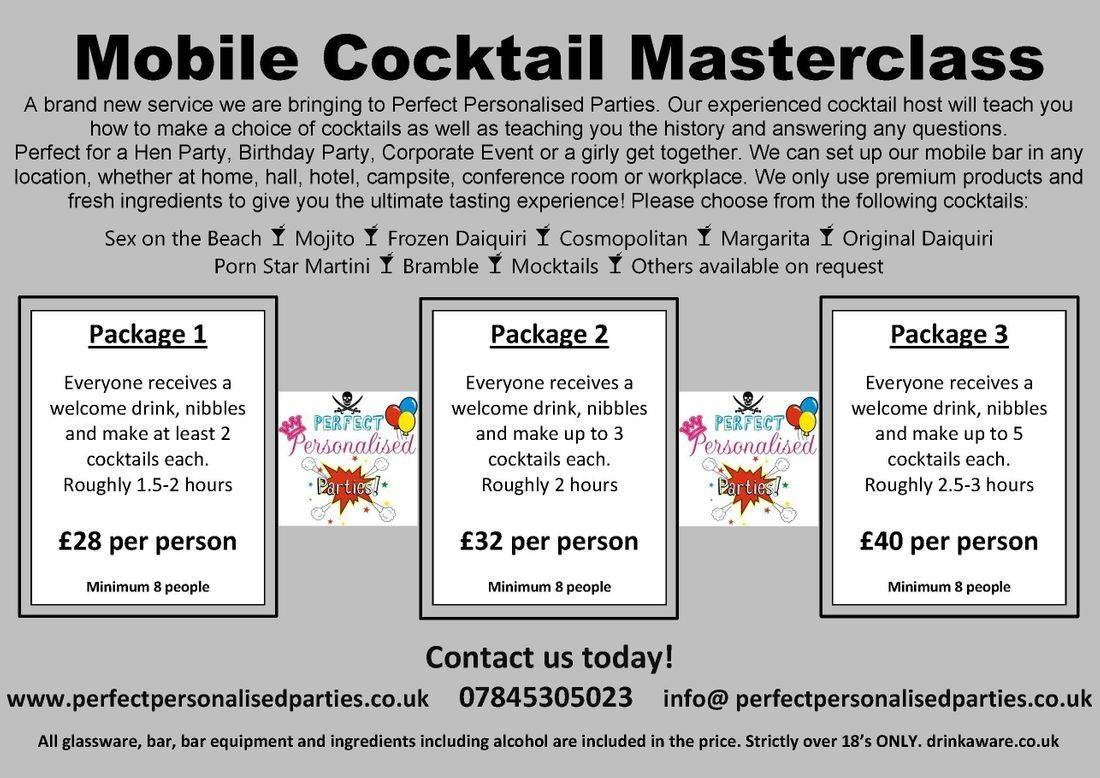 Cocktail master class bedfordshire hertfordshire buckinghamshire mobile bar hire party parties