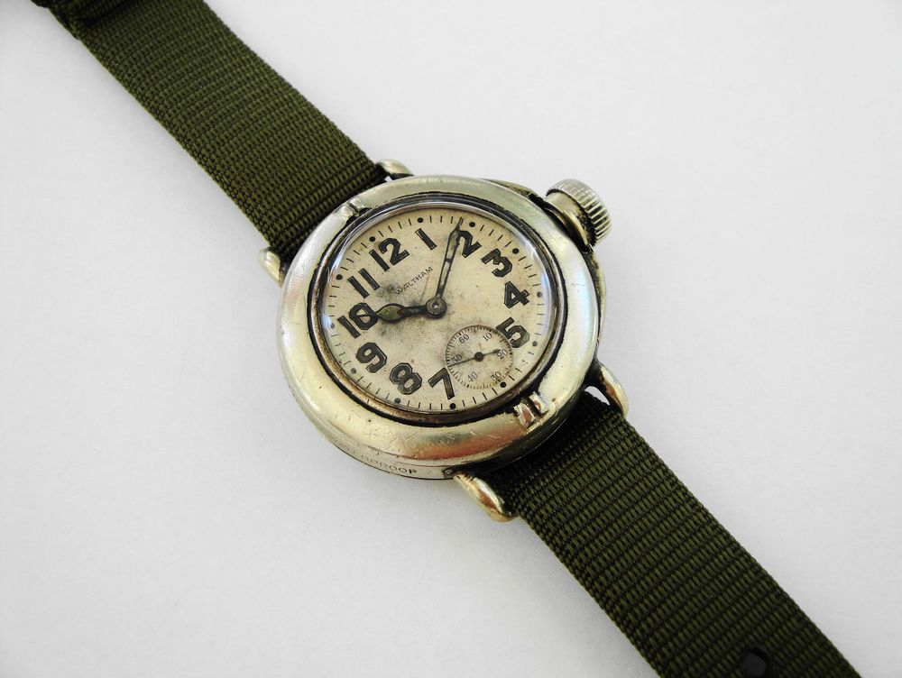 "1919 Waltham Depollier ""Field & Marine"" Waterproof Watch"