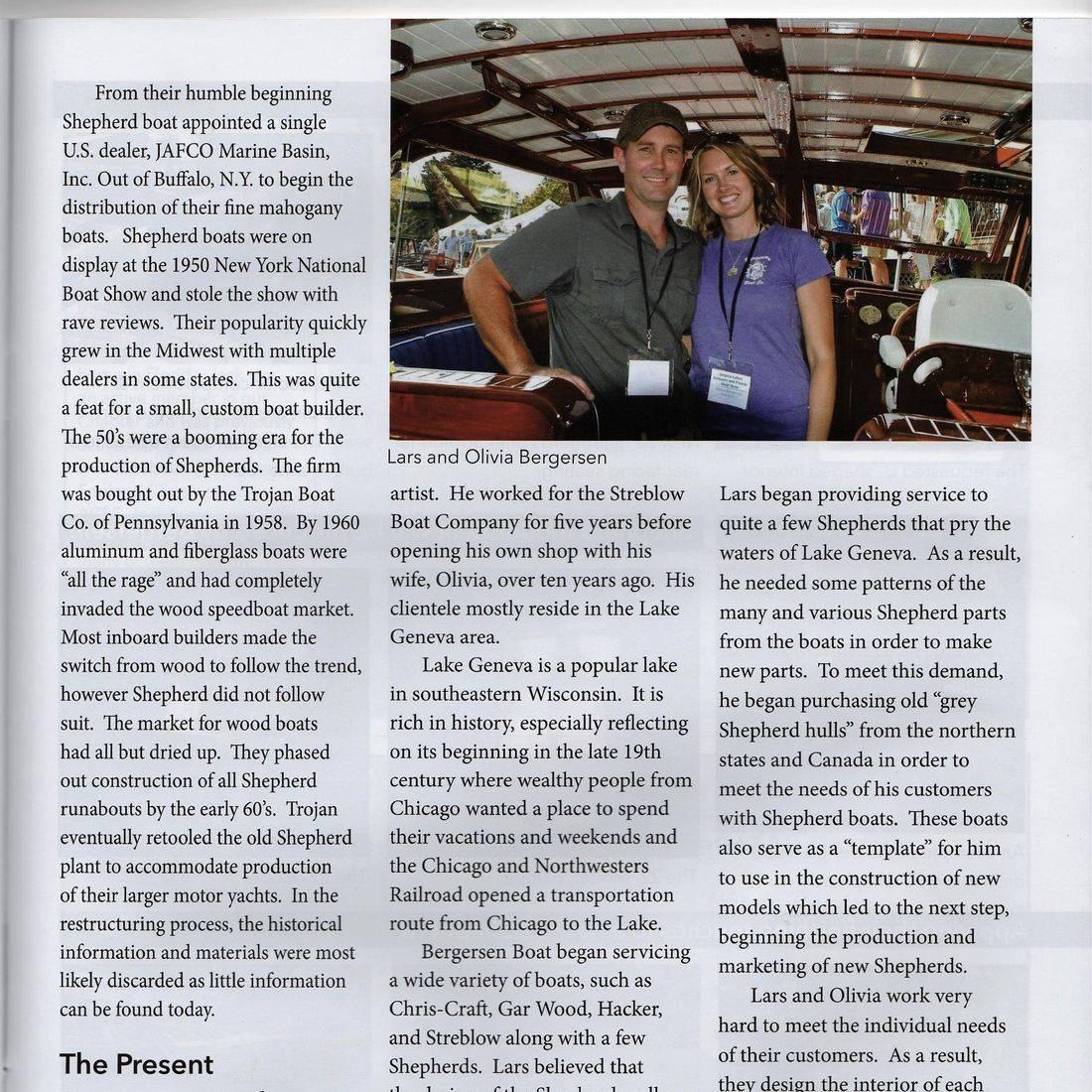 Wooden boat restoration in Clinker magazine