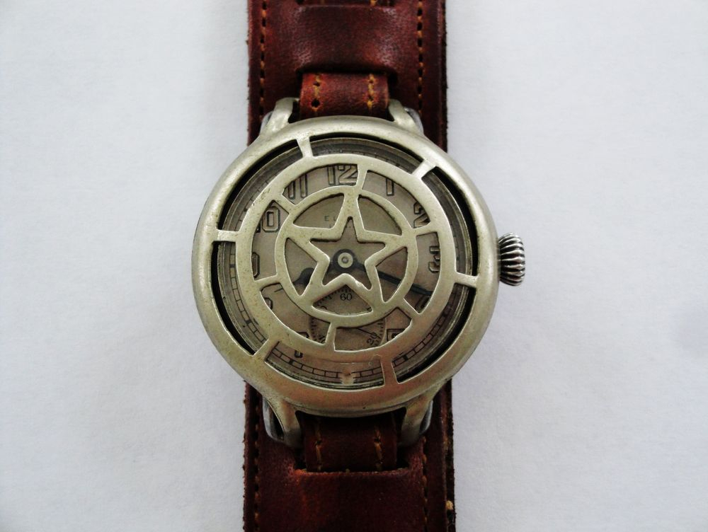 1917 WWI Elgin Trench Watch, STAR Crystal Guard