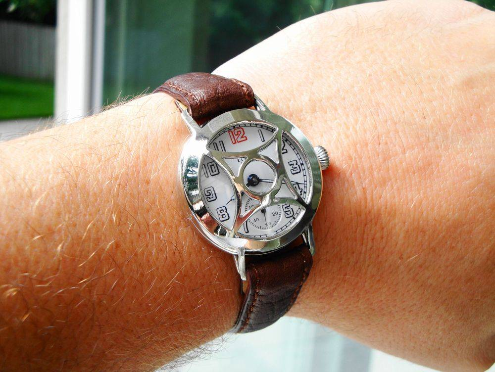 1917 WWI Elgin Trench Watch w/ Crystal Guard