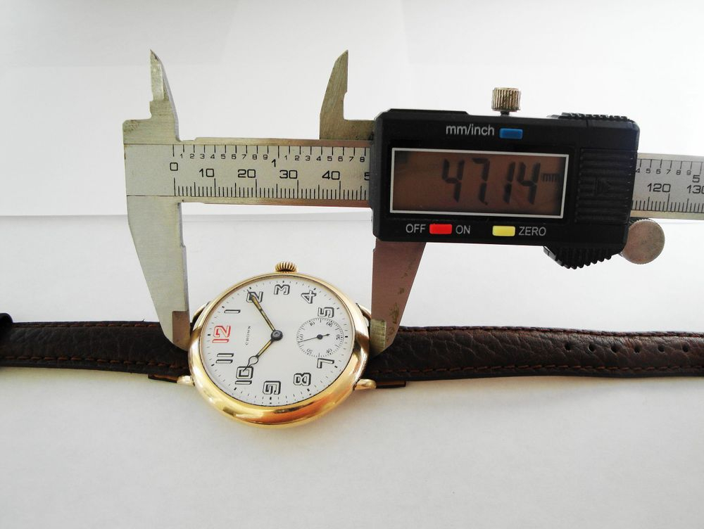 BEHEMOTH 47mm Size 12s Crown Watch Company Trench Watch