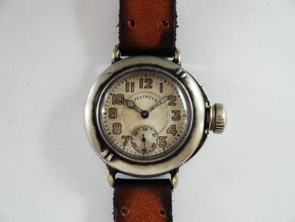 1919 Illinois Depollier Waterproof Field & Marine Watch, US Army ISSUED